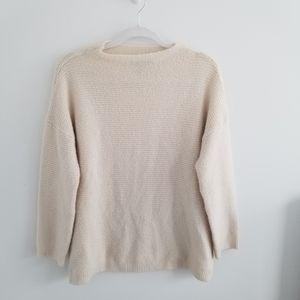 Forever 21 - Cream Mock Neck Sweater
